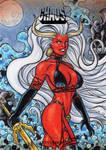 Lady Demon Sketch Card