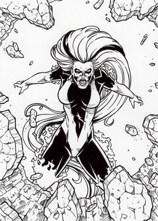DC SuperVillains Silver Banshee Base Card Art by