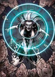 DC: Super-Villains - Silver Banshee Base Card Art by tonyperna