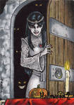 Vampyre's Bride Sketch Card - Hallowe'en 2