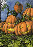 Jack-o-lanterns Sketch Card - Hallowe'en 2