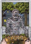 Mummy Sketch Card - Hallowe'en 2
