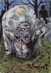Zombie Sketch Card - Hallowe'en 2