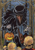 Plague Doctor Sketch Card - Hallowe'en 2 by tonyperna