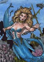 Mermaid Sketch Card - Spellcasters II by tonyperna