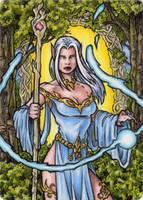 Elf Metal Sketch Card - Spellcasters II by tonyperna