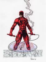 Daredevil 9 X 12 Color by tonyperna