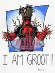Deadpool 9 X 12 Color Art
