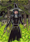 Witch Metal Sketch Card 1 - Hallowe'en Witchcraft