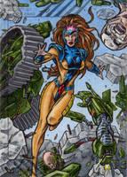 Jean Grey - 2015 Marvel Fleer Retro AP by tonyperna