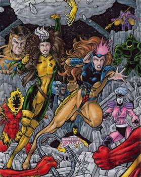 Rogue + Jean Grey vs. The Imperial Guard