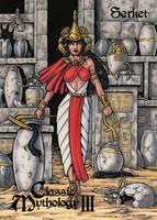Serket - Classic Mythology III Card Art by tonyperna