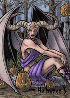 Hallowe'en 3 - Sketch Card 4 by tonyperna