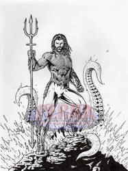 Aquaman Inked - FOR SALE by tonyperna