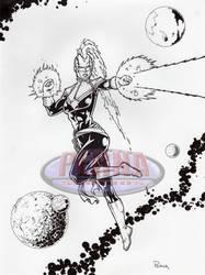 Captain Marvel Inked by tonyperna