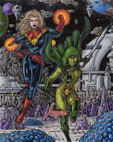 Captain Marvel + Gamora - MGH by tonyperna