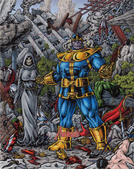Thanos + Death Vs. The Avengers - MGH