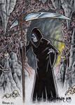 Death Sketch Card - Hallowe'en