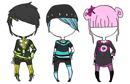 Goth Pastel Batch 1 /3 by lShayle