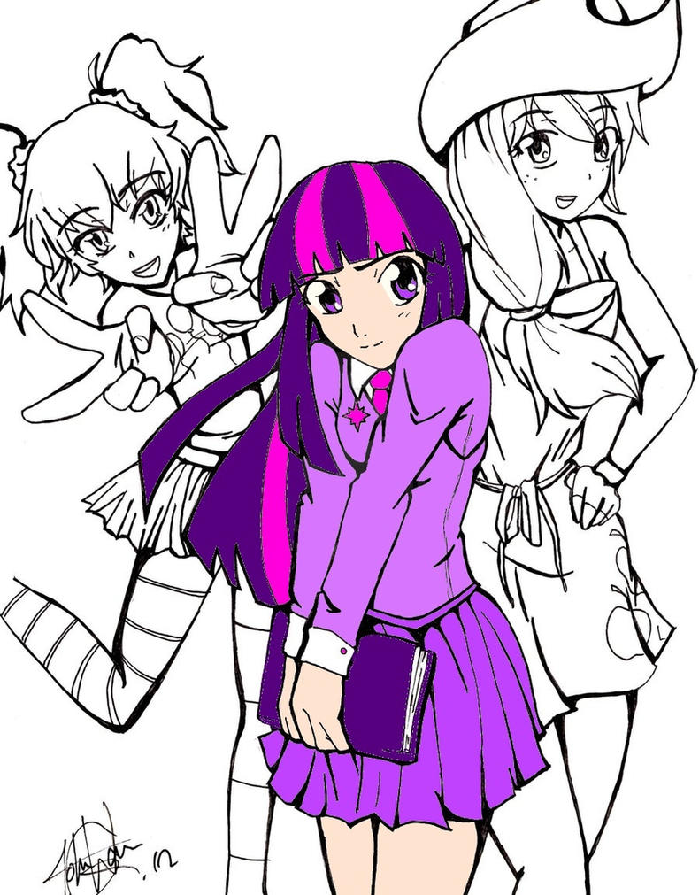 Colored manga websites - In Progress Colored Version Of Mlp Outline By Kagomechan23