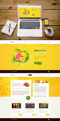 Webdesign for juice producer - JuicyShock