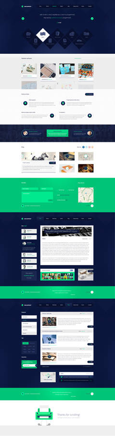 Circleprint - web design for printery