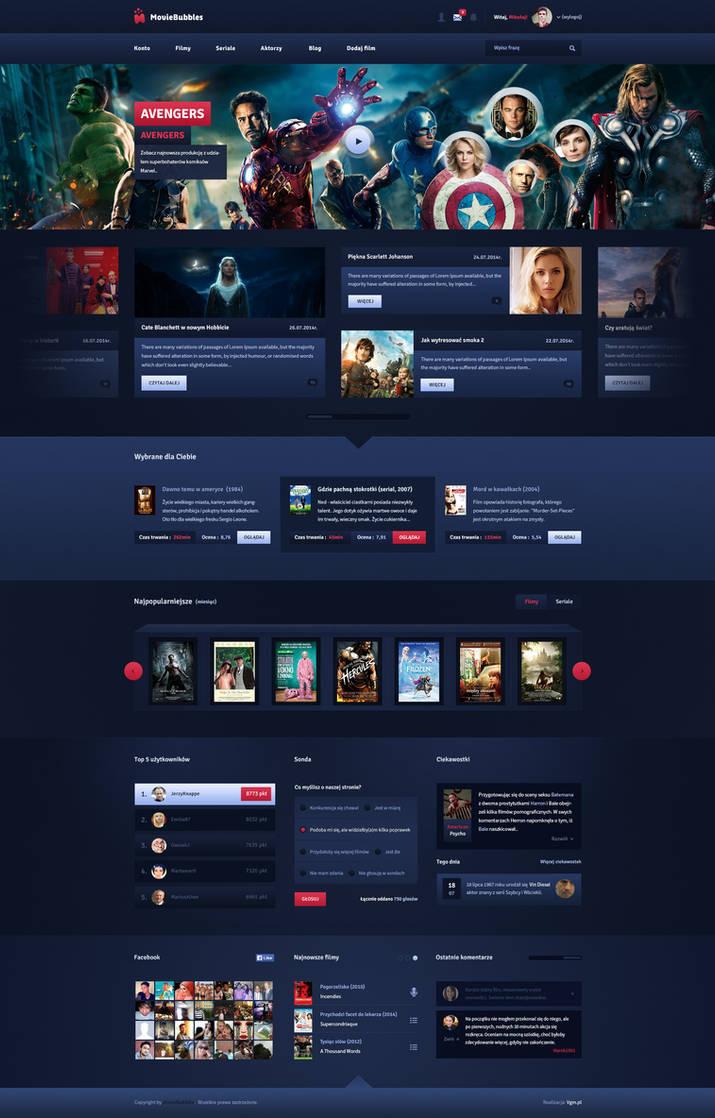 MovieBubbles - movie online portal by SycylianBeef