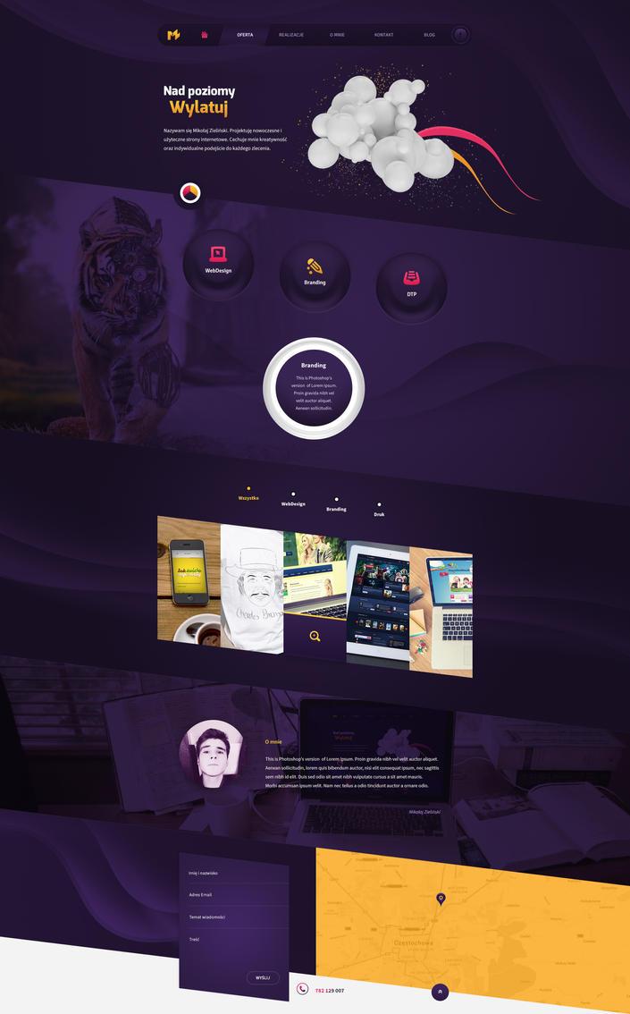 Personal portfolio web design by SycylianBeef