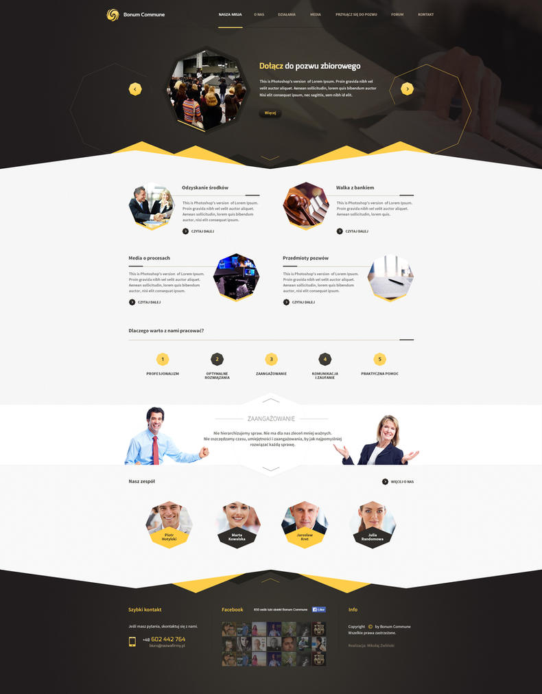 Bonum Commune - web design for law firm by SycylianBeef