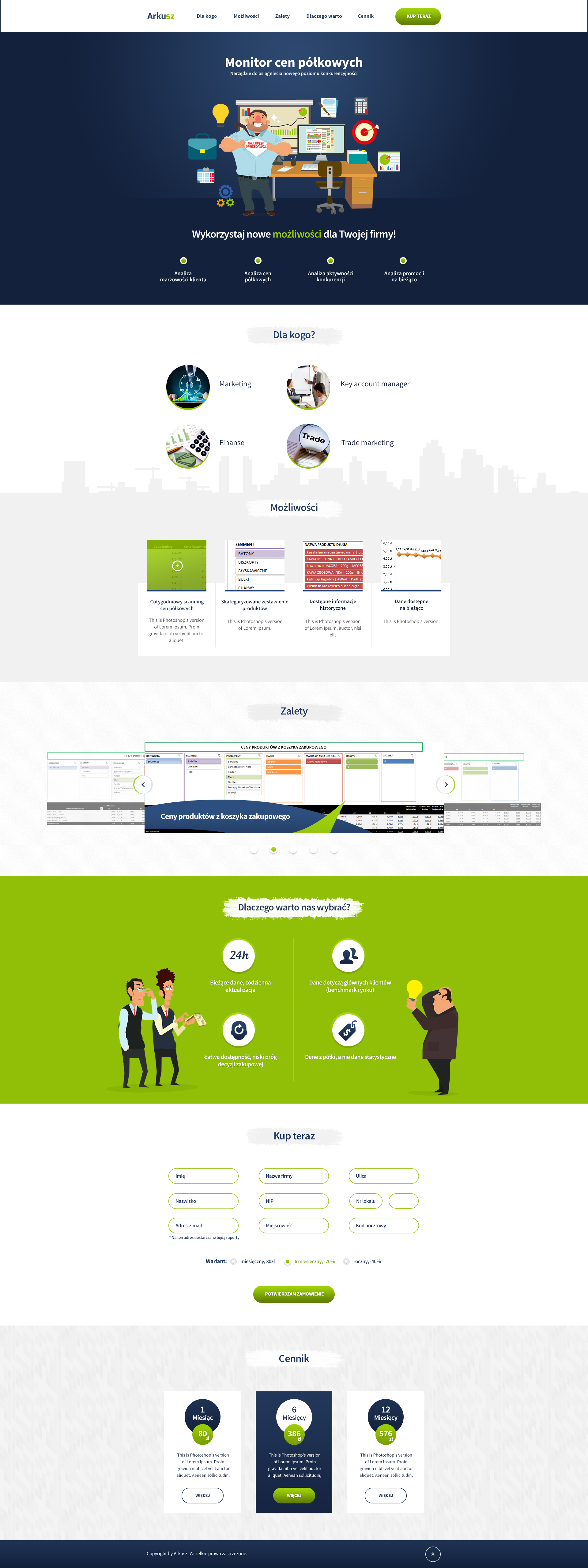 Arkusz - stores application one page Web Design by SycylianBeef on ...