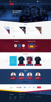 Fc Barcelona web design official site layout