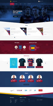 Fc Barcelona web design official site layout