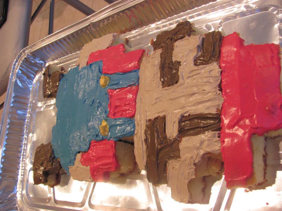 Mario Cake by QuirkyCakes