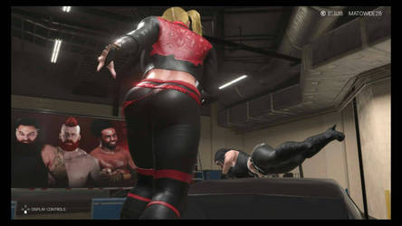Britney about to punish Cassie by BlueNose1982
