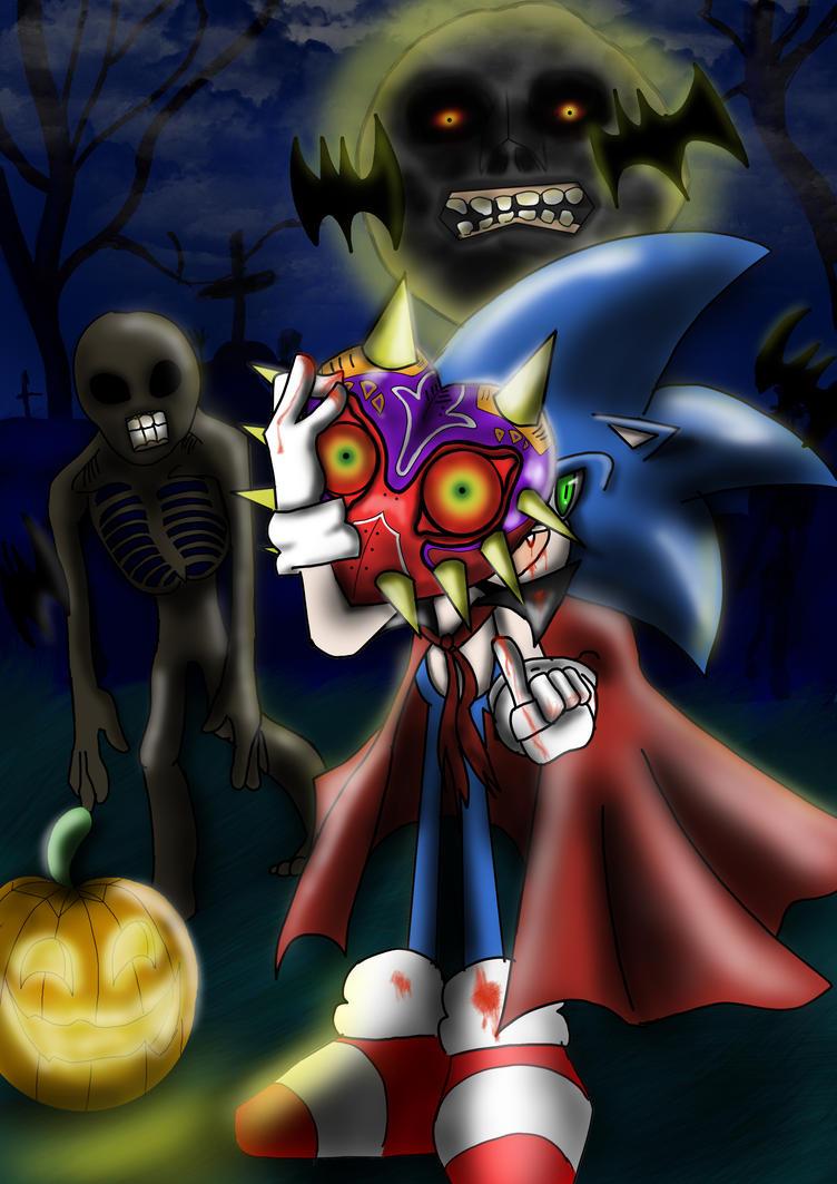 sonic halloween mask by ZemlaSaga on DeviantArt