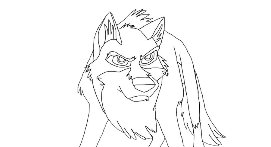 Balto 2 coloring pages sketch coloring page for Balto coloring pages