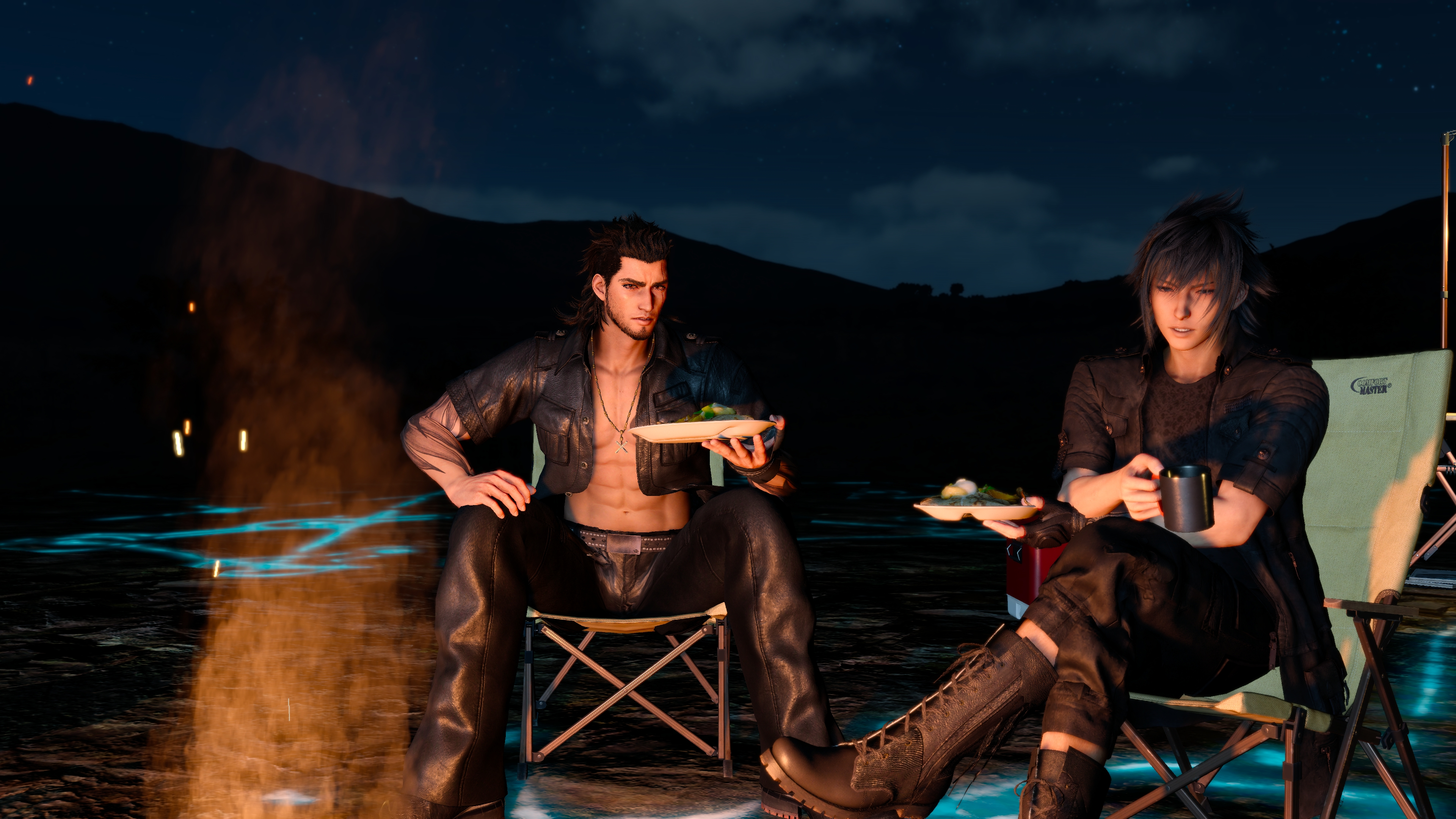 Final Fantasy XV - Noctis and Gladiolus by SNColors