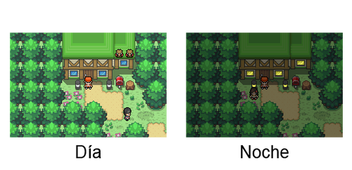 Pokemon Mysteries - Sistema dia y noche