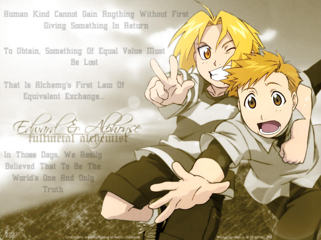 Edward And Alphonse By Elric FMA