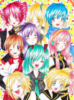 Vocaloid Party by mosspluse