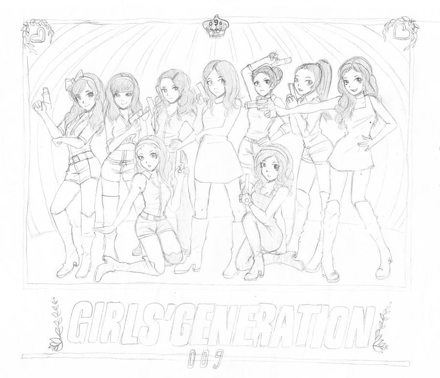 coloring book kpop snsd hoot wip by mosspluse on deviantart