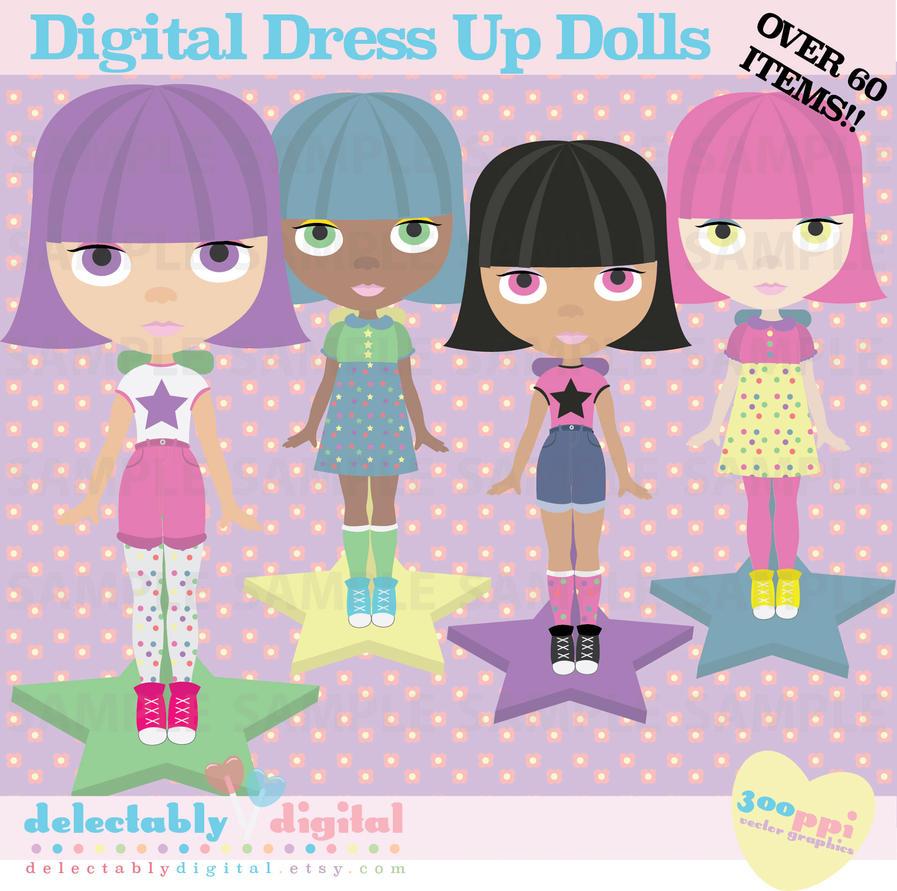 Digital Blythe Dress Up Doll- Clipart by ArtsyAndreaM