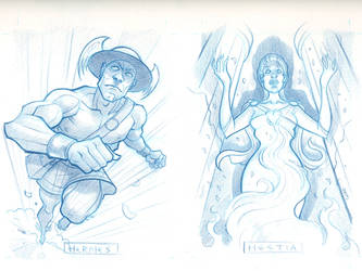 Hermes and Hestia sketches by JasonGoad