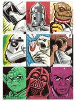 Star Wars sketch cards 2 by JasonGoad