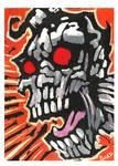 Zombie sketch card 1