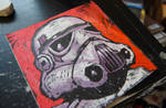 Stormtrooper faux woodcut
