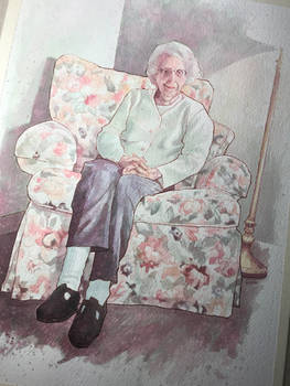 Grandma Sayre and her Comfy Chair