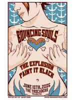 Bouncing Souls rock poster by JasonGoad