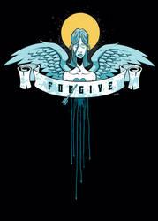 70star7 'Forgive' t-shirt by JasonGoad