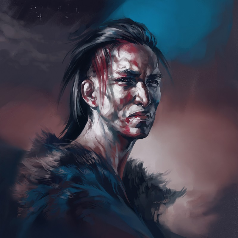 Native American - Warrior by Alex-J-Crow